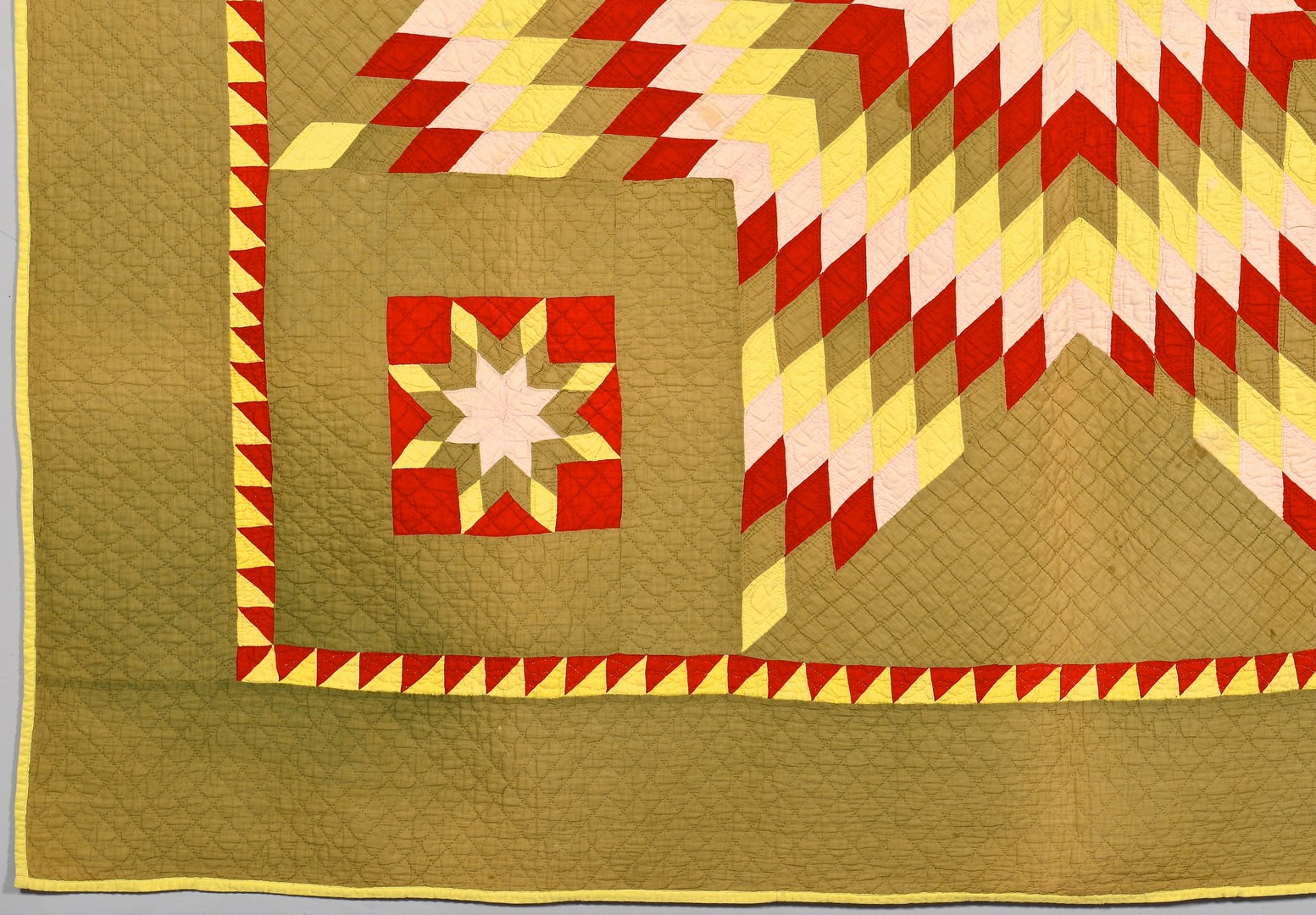 Lot 268: Adams or Berks County Quilt, Star of Bethlehem Pat