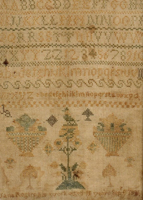 Lot 275: 1831 Kentucky Needlework Sampler