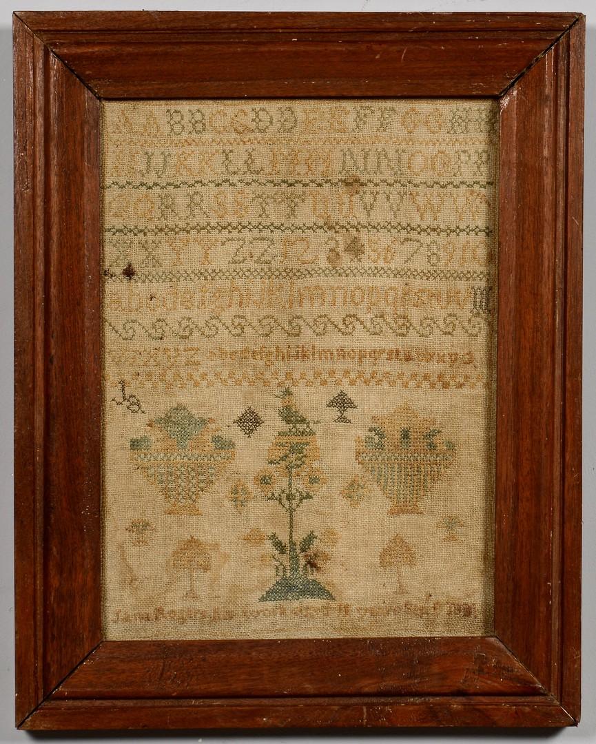 Lot 275: 1831 Kentucky Needlework Sampler