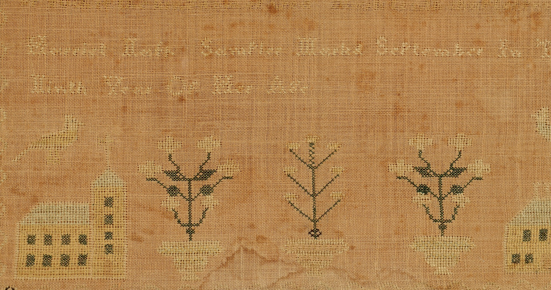 Lot 276: 2 19th Century American Samplers