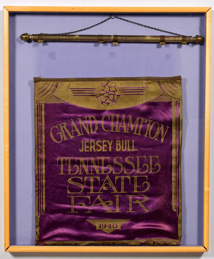 Lot 279: TN State Fair Flag, Prize Jersey Bull