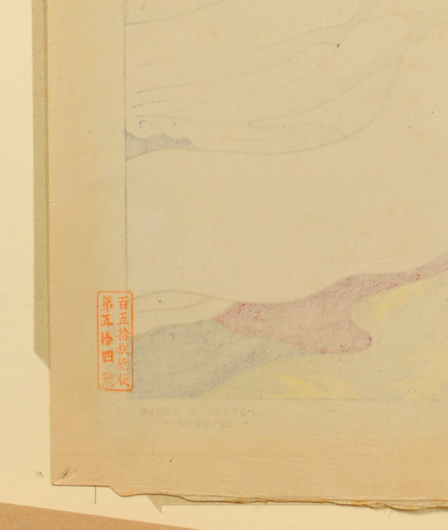Lot 27: 2 Paul Jacoulet Woodblocks