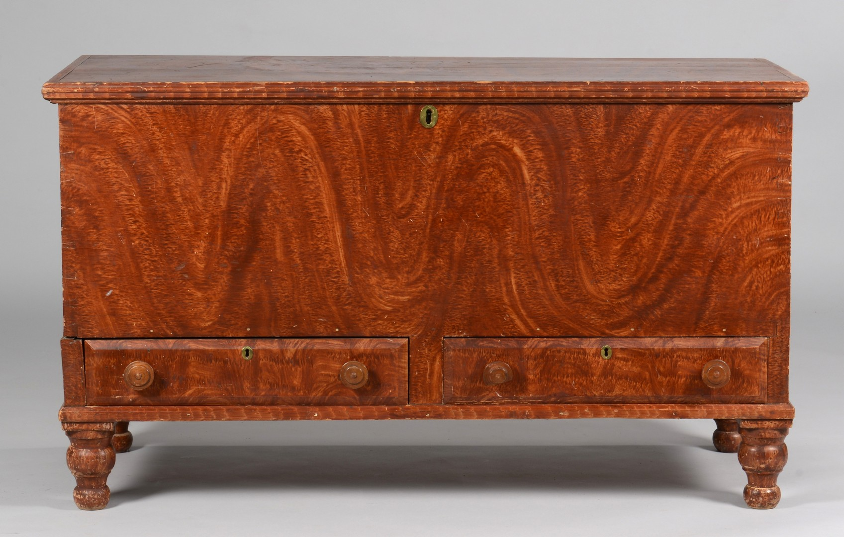 Lot 282: Paint Decorated Blanket Chest