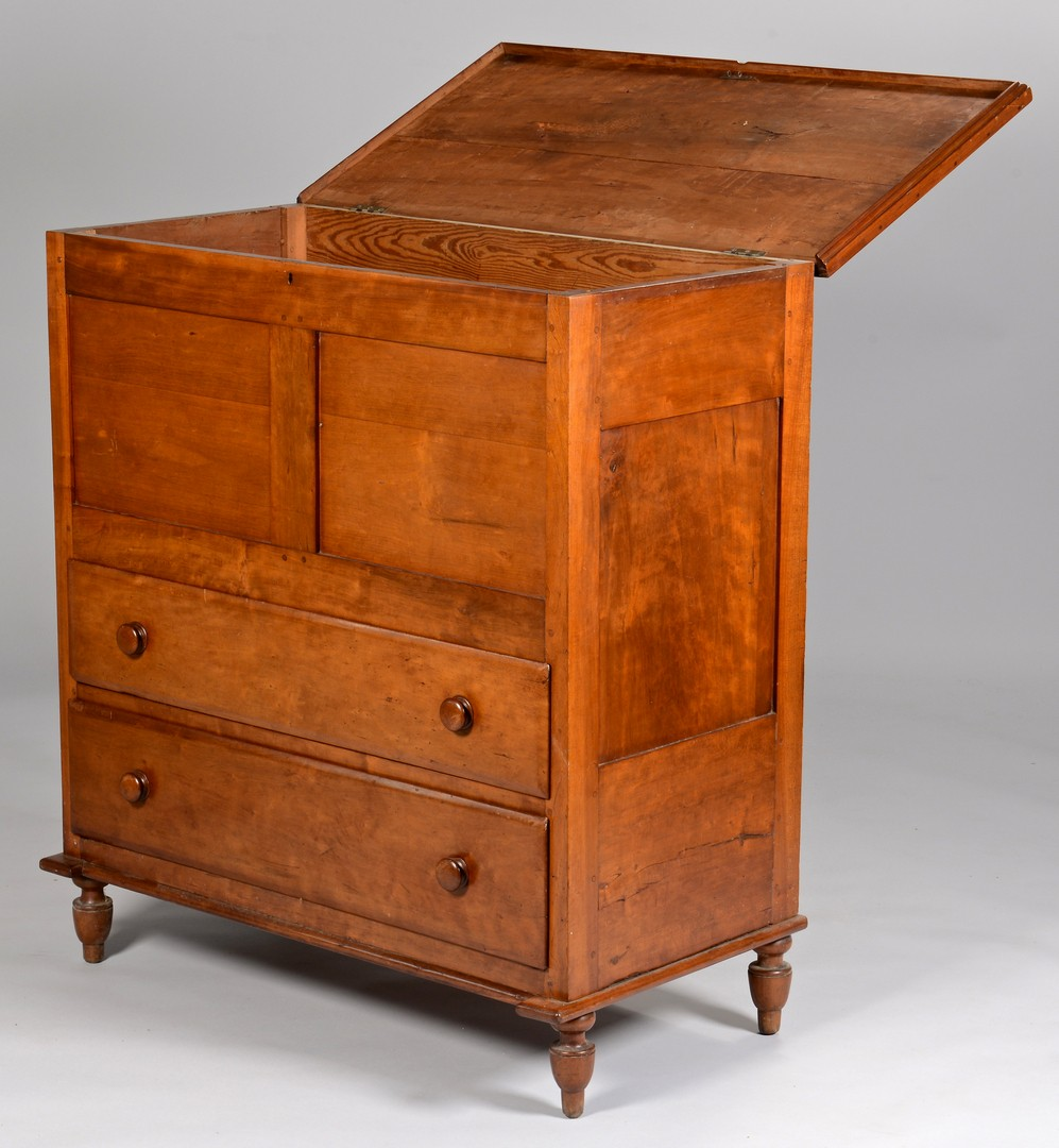 Lot 284: Southern Lift top chest of drawers, Yellow Pine Se