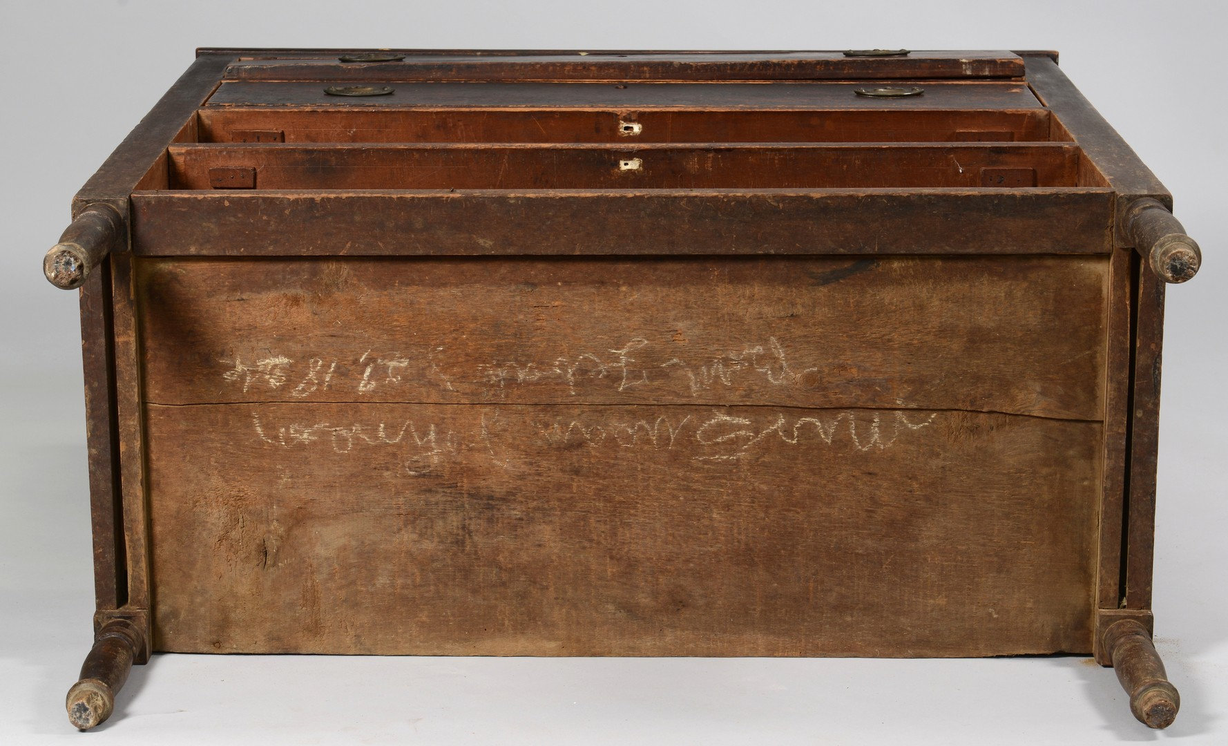 Lot 286: Signed Middle TN Sheraton Chest