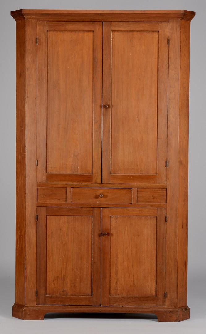 Lot 289: East TN Blind Door Corner Cupboard