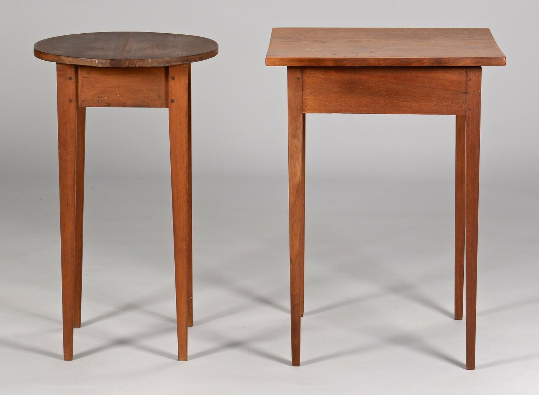 Lot 290: 2 East TN Hepplewhite Style Tables