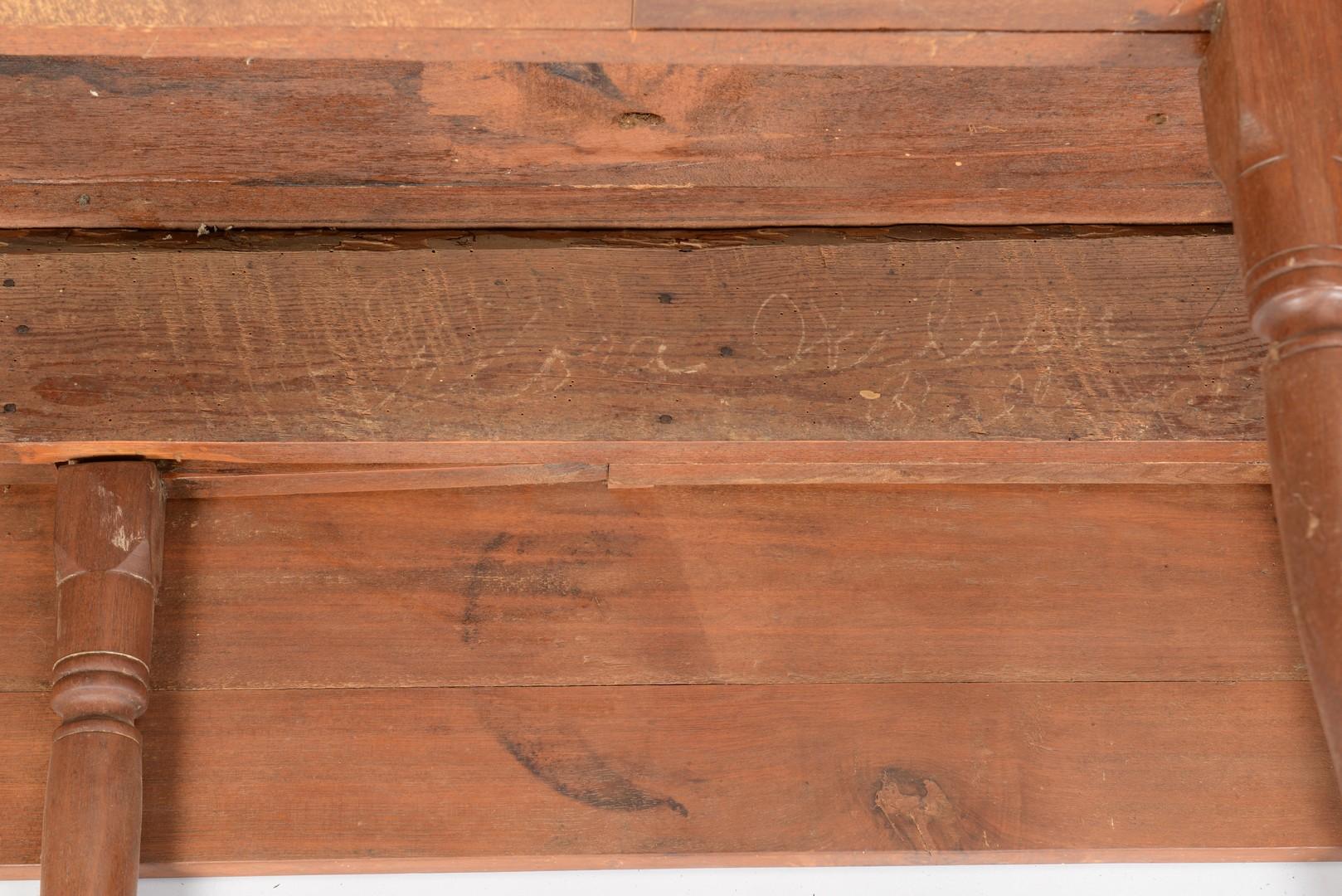 Lot 291: East TN Walnut Fall Leaf Table, Paneled Leaves