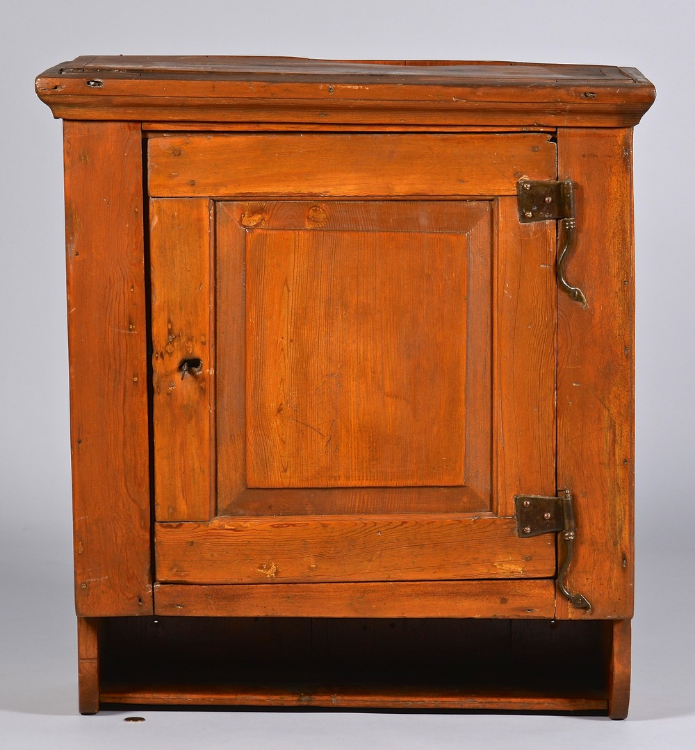 Lot 294: Greene Co. Hanging Cupboard, Early 19th Cent.