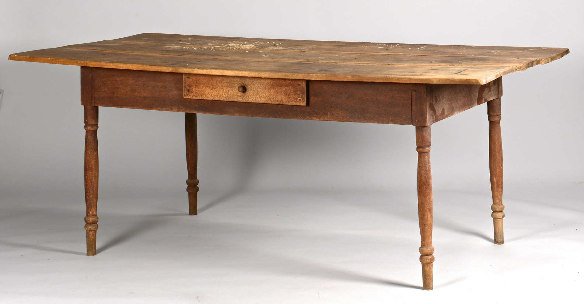 Lot 295: Greene Co. TN One Drawer Farm Table