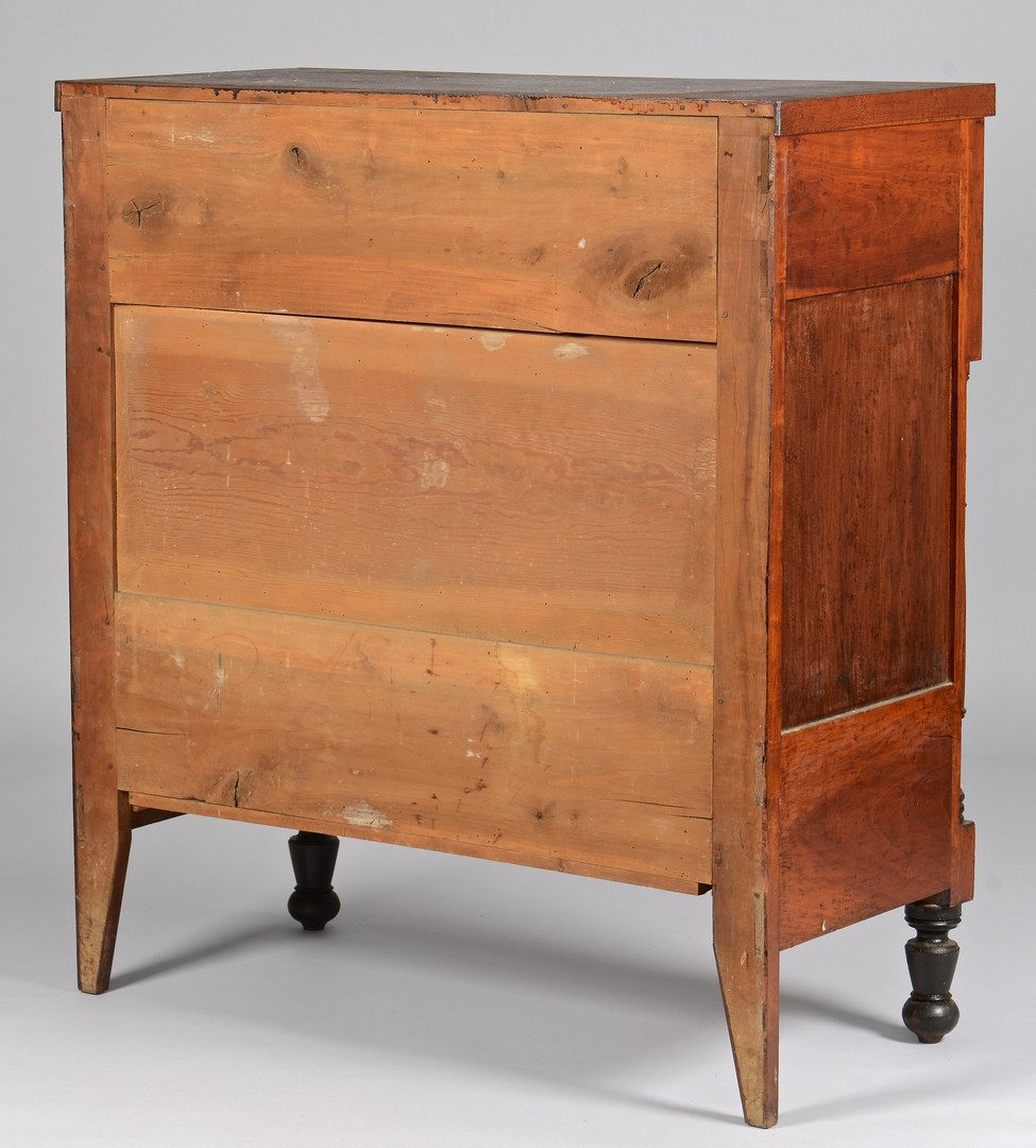 Lot 299: TN Sheraton Chest of Drawers, Ebonized Feet