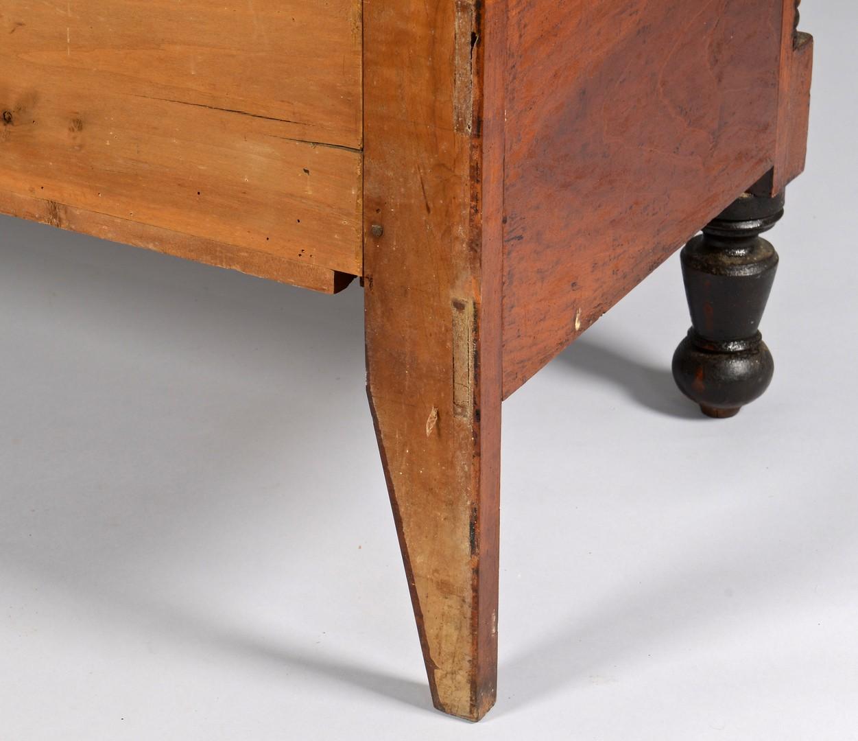 Lot 299: TN Sheraton Chest of Drawers, Ebonized Feet