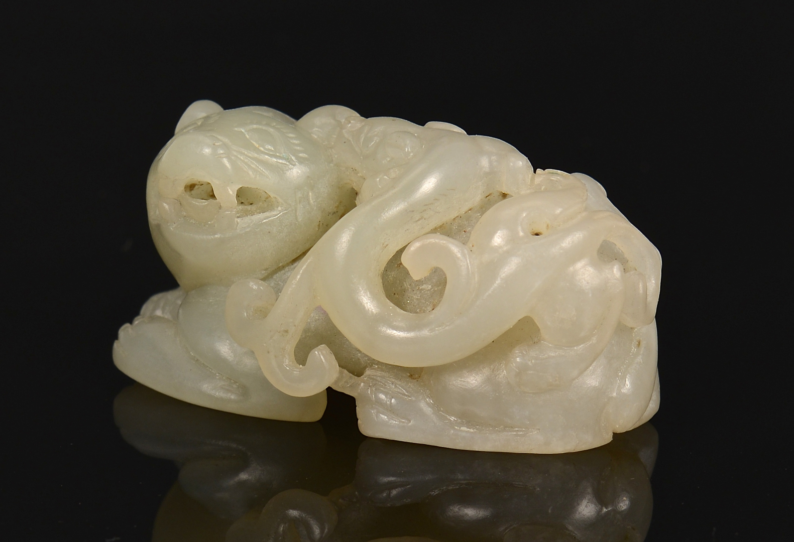 Lot 2 3 Chinese Jade Animal Carvings