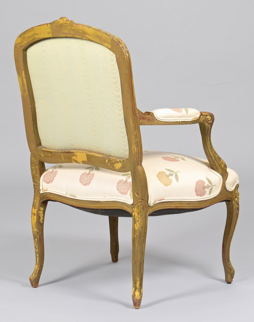Lot 302: Hepplewhite Armchair & Giltwood French Fauteuil