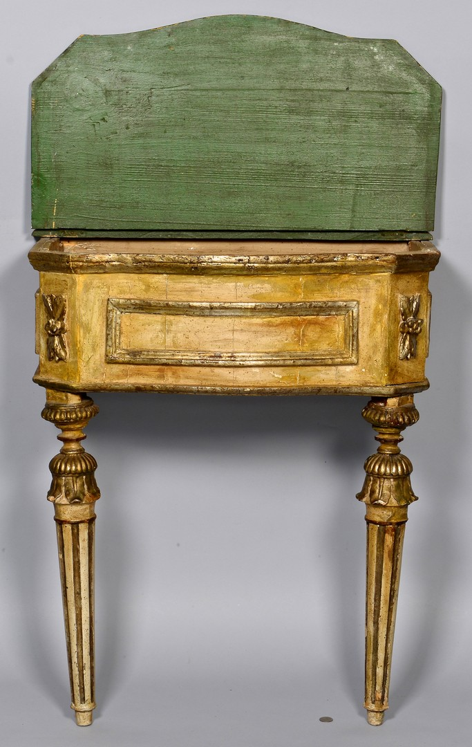 Lot 303: 18th c. painted Italian Console Table