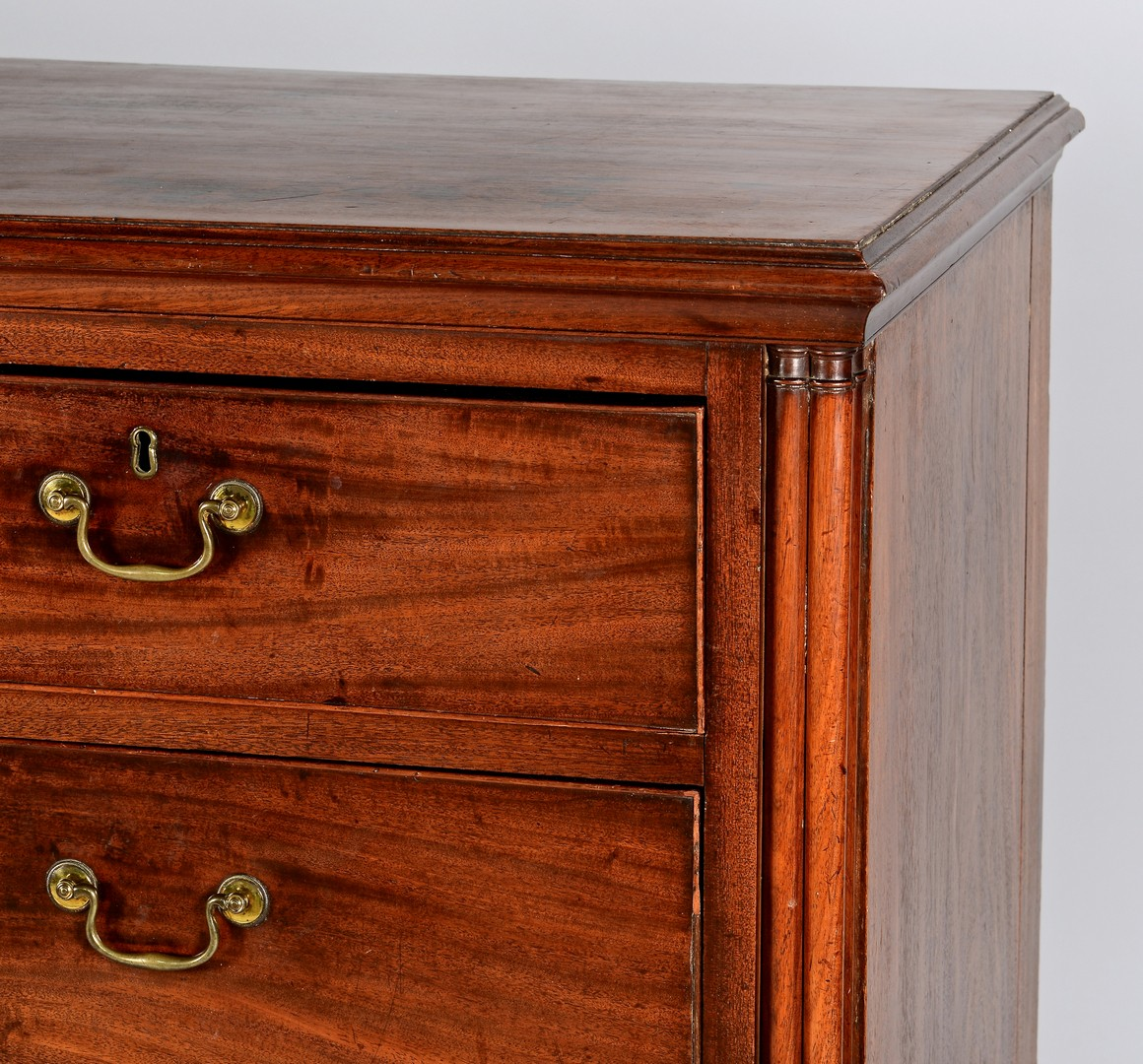 Lot 304: George III Floral Inlaid Chest of Drawers