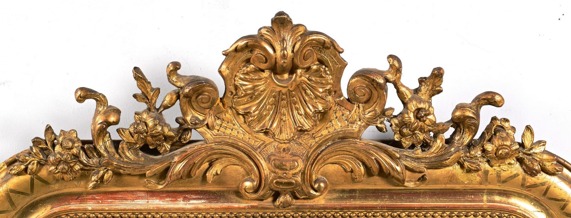 Lot 307 Continental Rococo Style Gilt Mirror