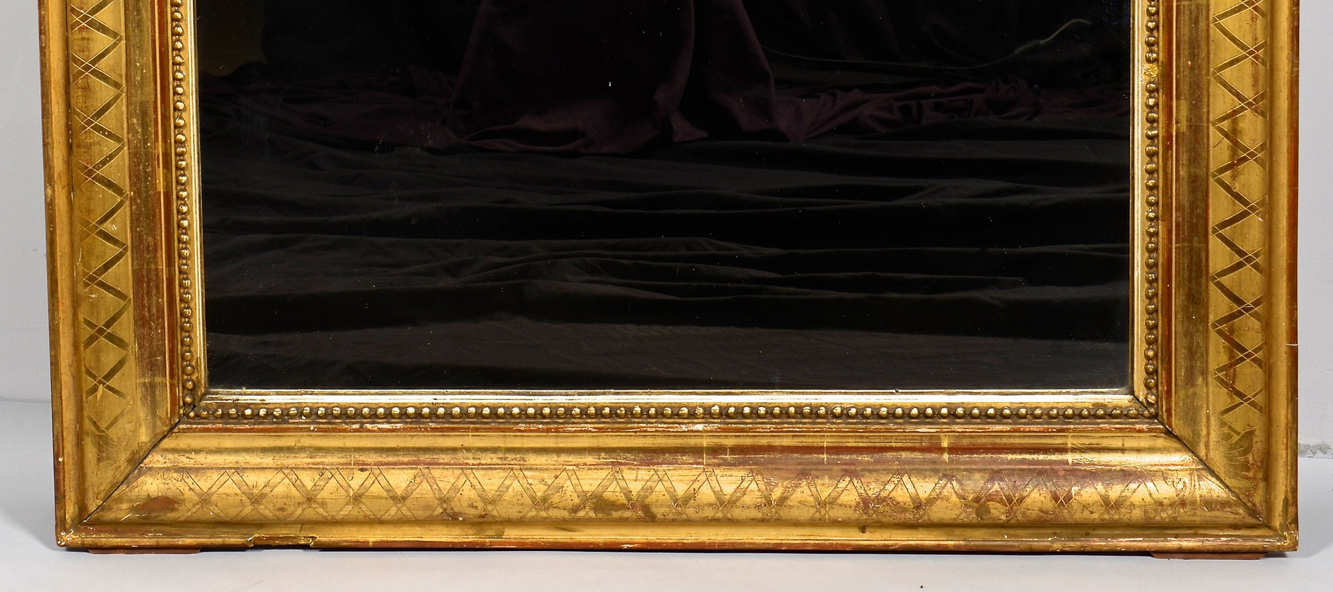 Lot 307: Continental Rococo style Gilt Mirror