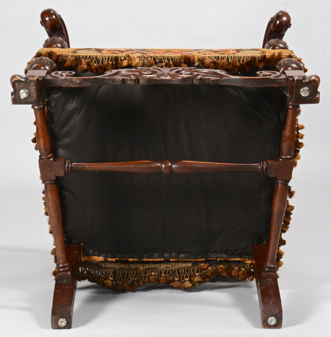 Lot 308: 2 Baroque Continental Needlepoint Chairs
