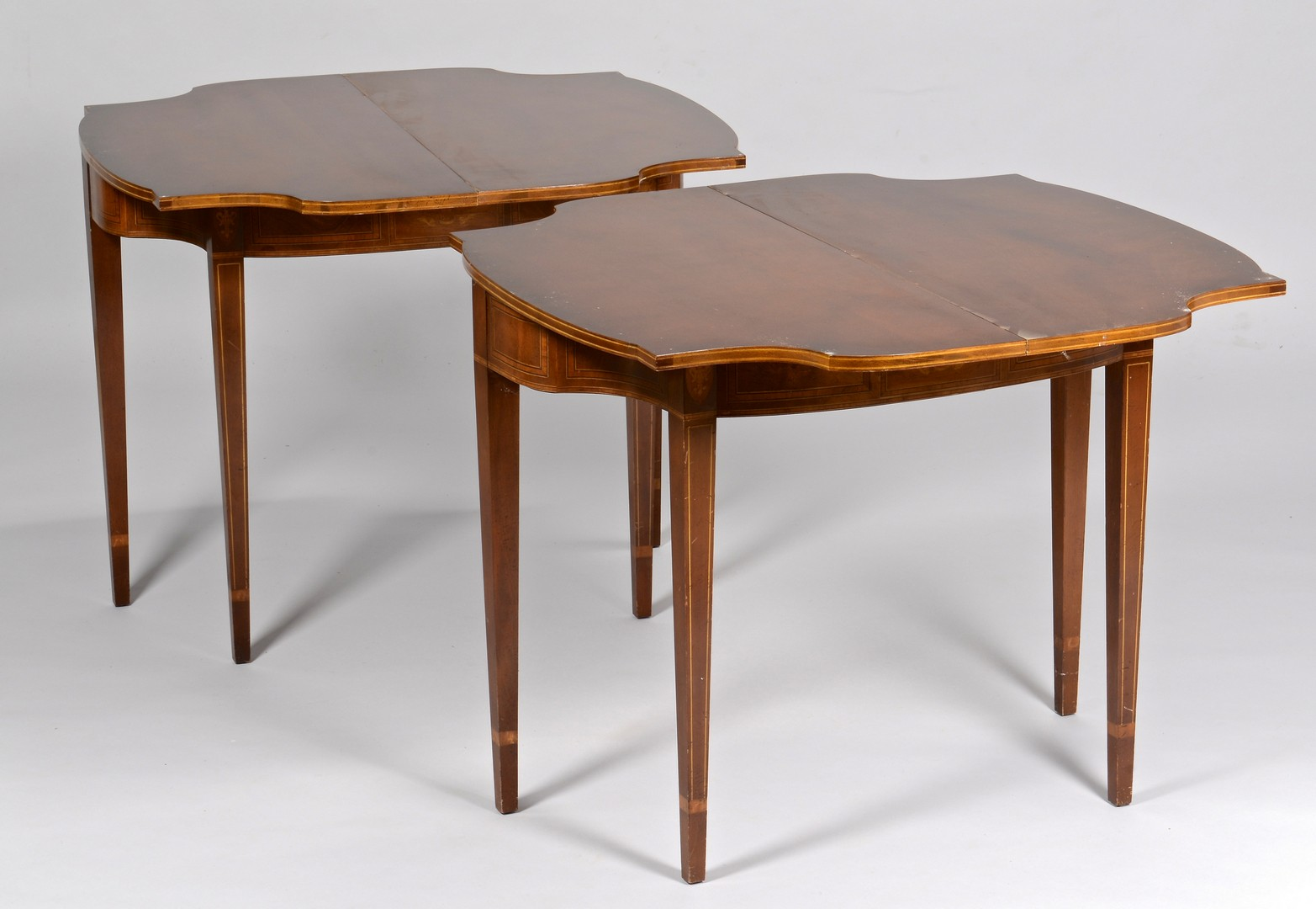 Lot 309: Pair Eagle Inlaid Game Tables