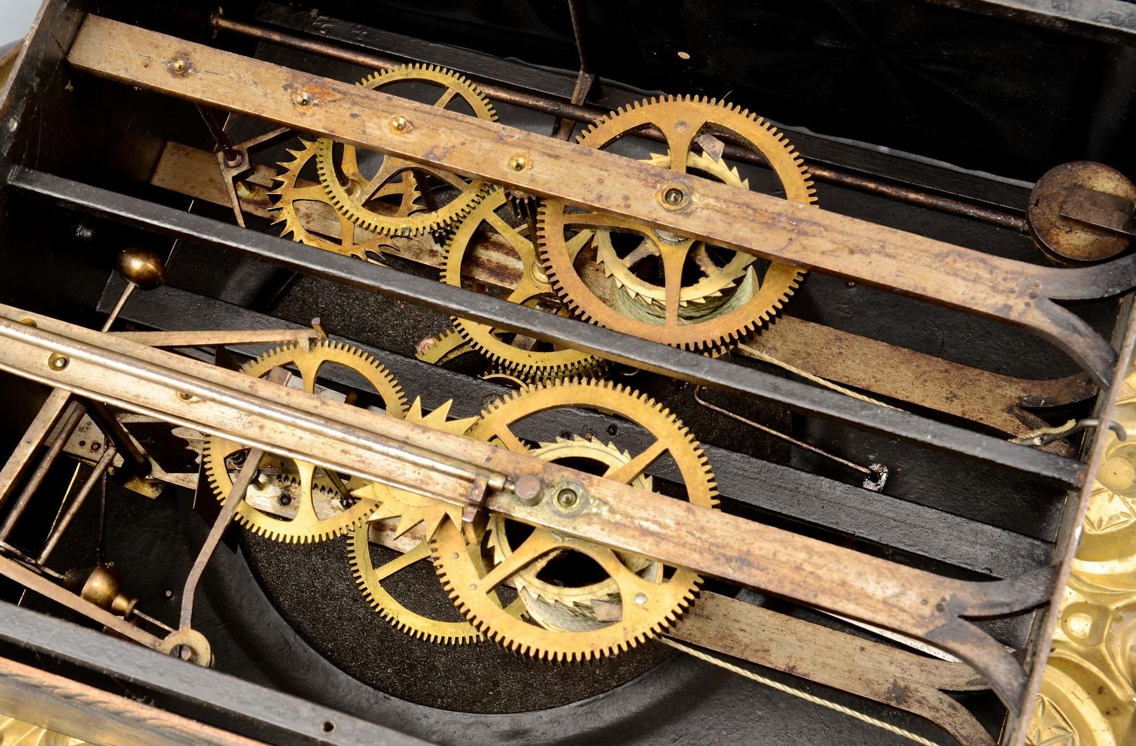 Lot 311: Delaunay French Gilt Metal Morbier Clock