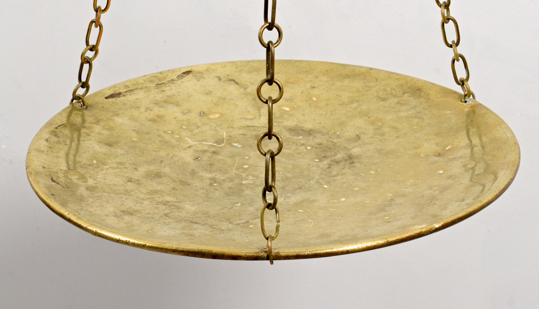 Lot 312: Continental Chilog Steel & Brass Pan Kitchen Scale