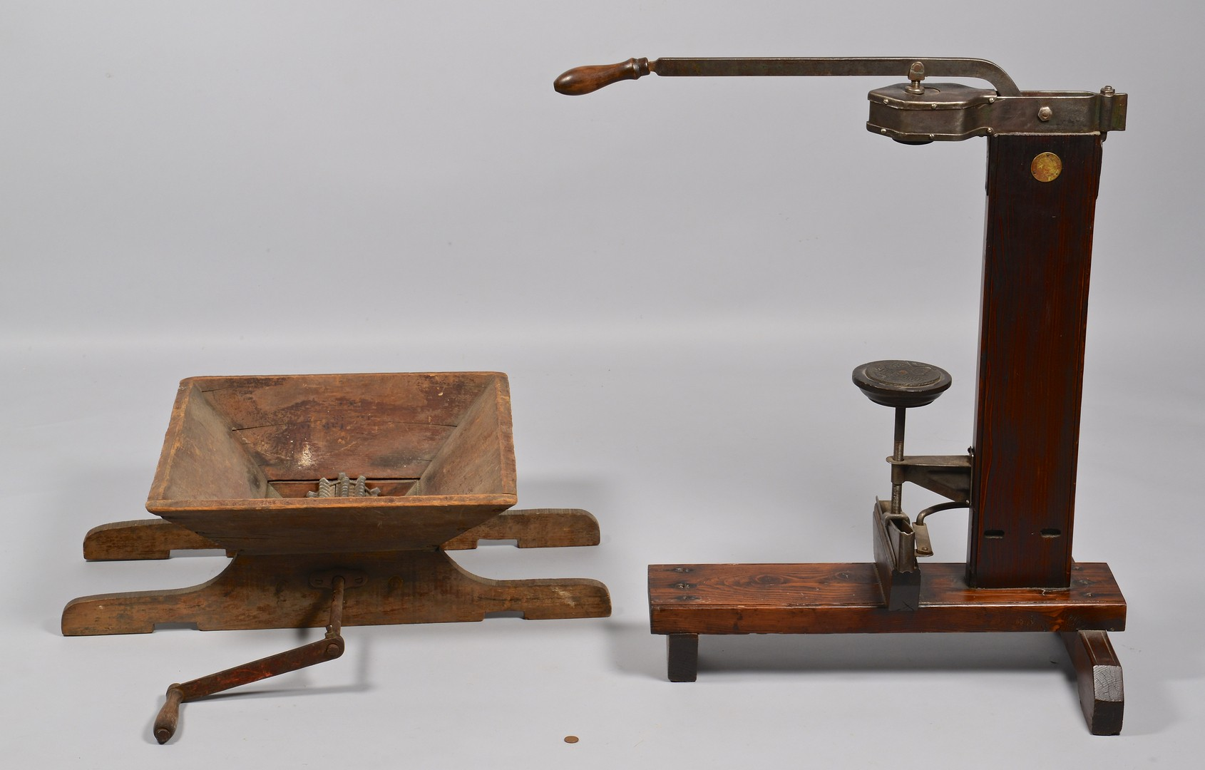 Lot 313: Vintage Wine Corkers, Press, Spigot