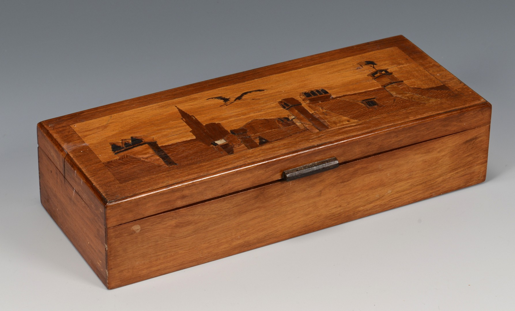 Lot 314: Spindler Marquetry Tray & Box