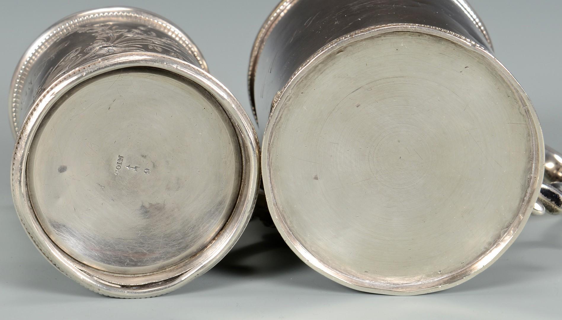 Lot 324: 2 Coin Silver Cups plus ladle