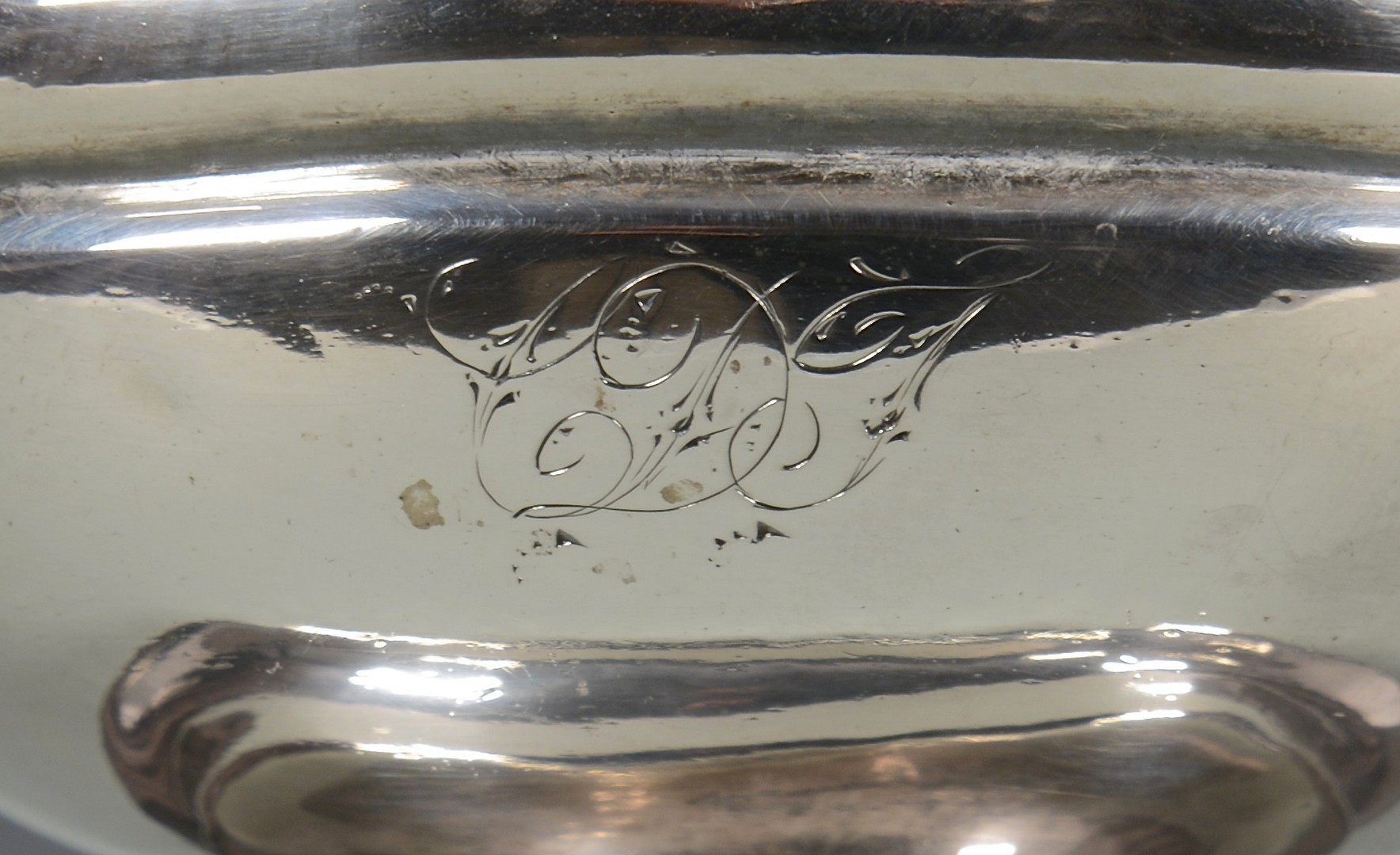 Lot 325: Silver Cream Pitcher, Cornucopia Handle