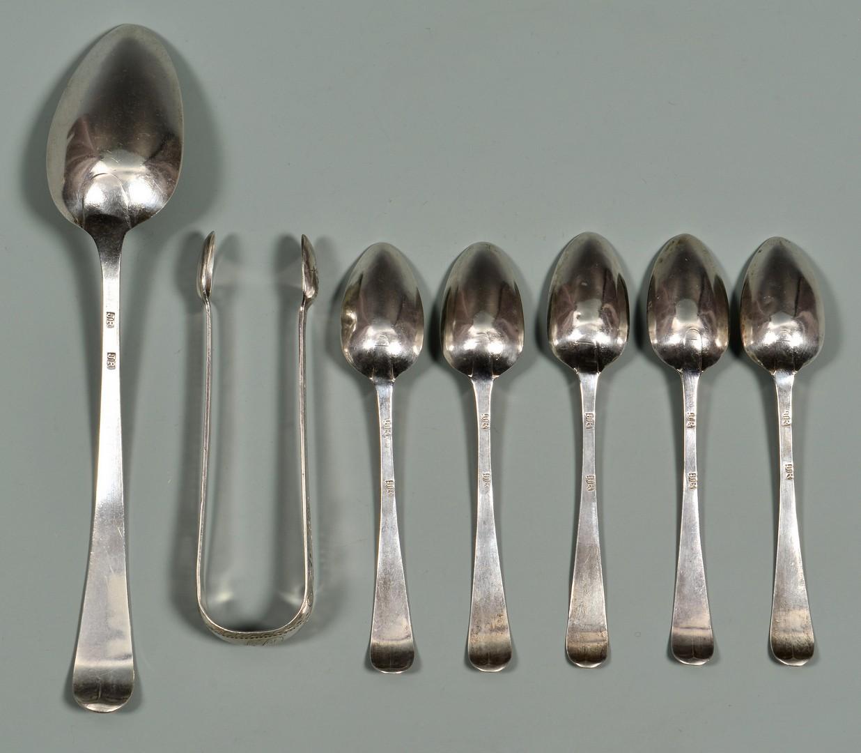 Lot 326: Joseph Richardson, 7 pcs. Federal Silver