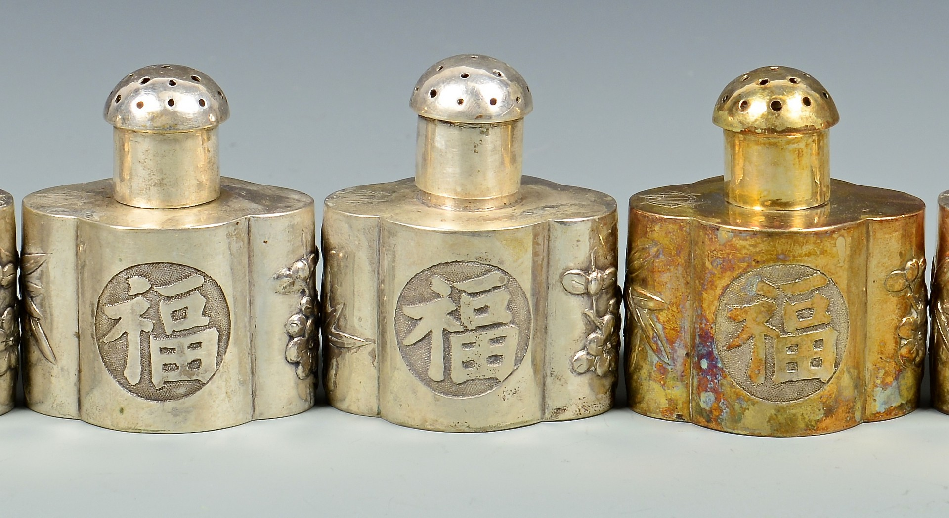 Lot 32: 12 Chinese Export Silver Novelties
