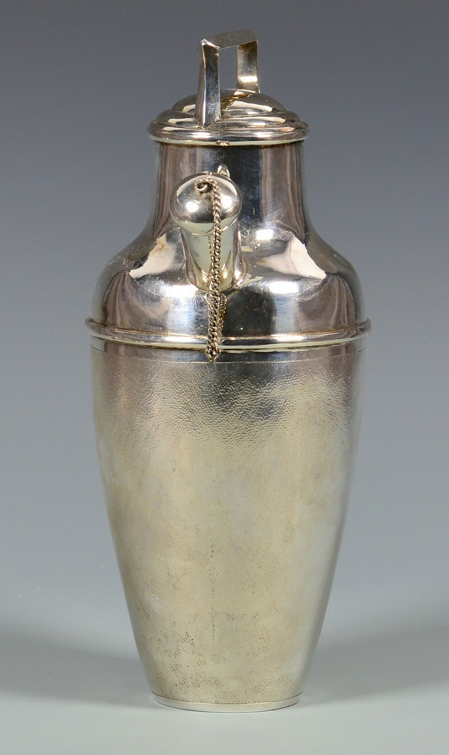 Lot 33: Chinese Silver Cocktail Shaker and Tray