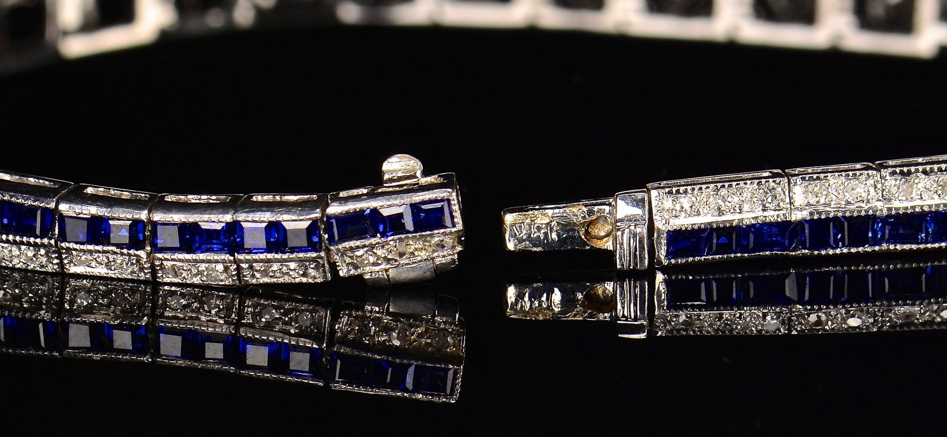 Lot 345: 14k Diamond & Sapphire Demi-Parure