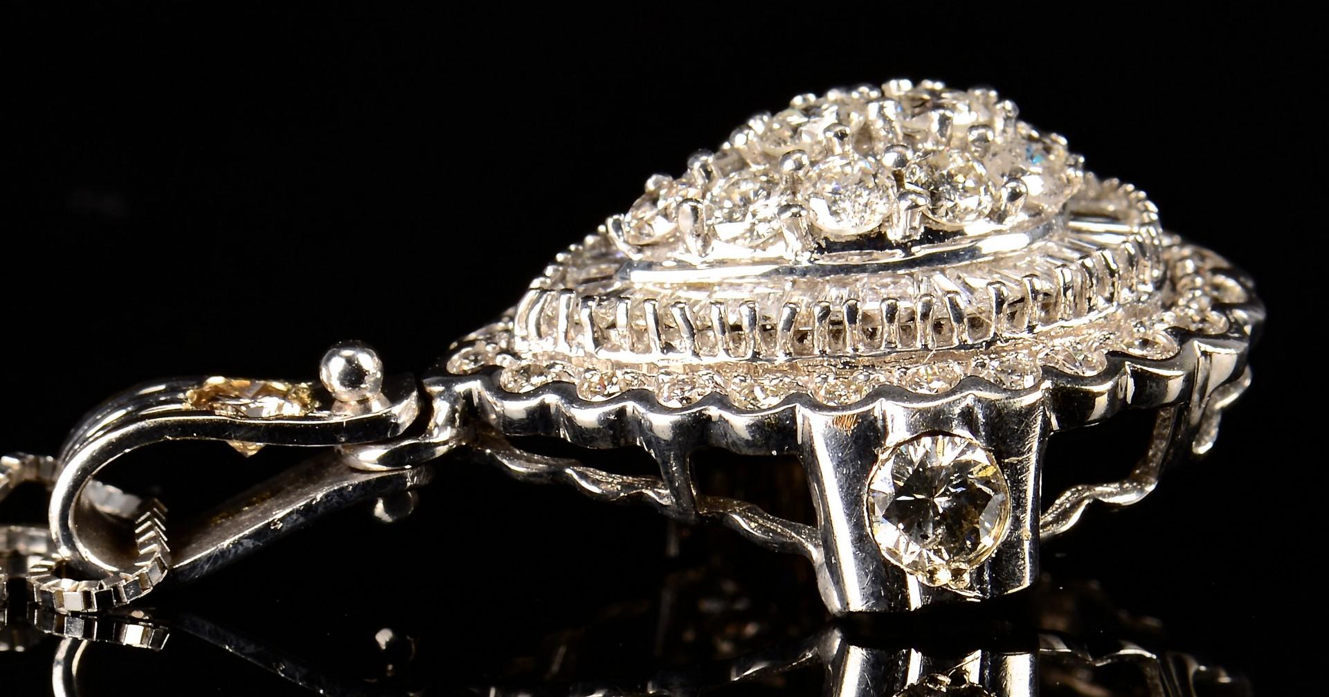 Lot 349: 14k Diamond Pendant Necklace