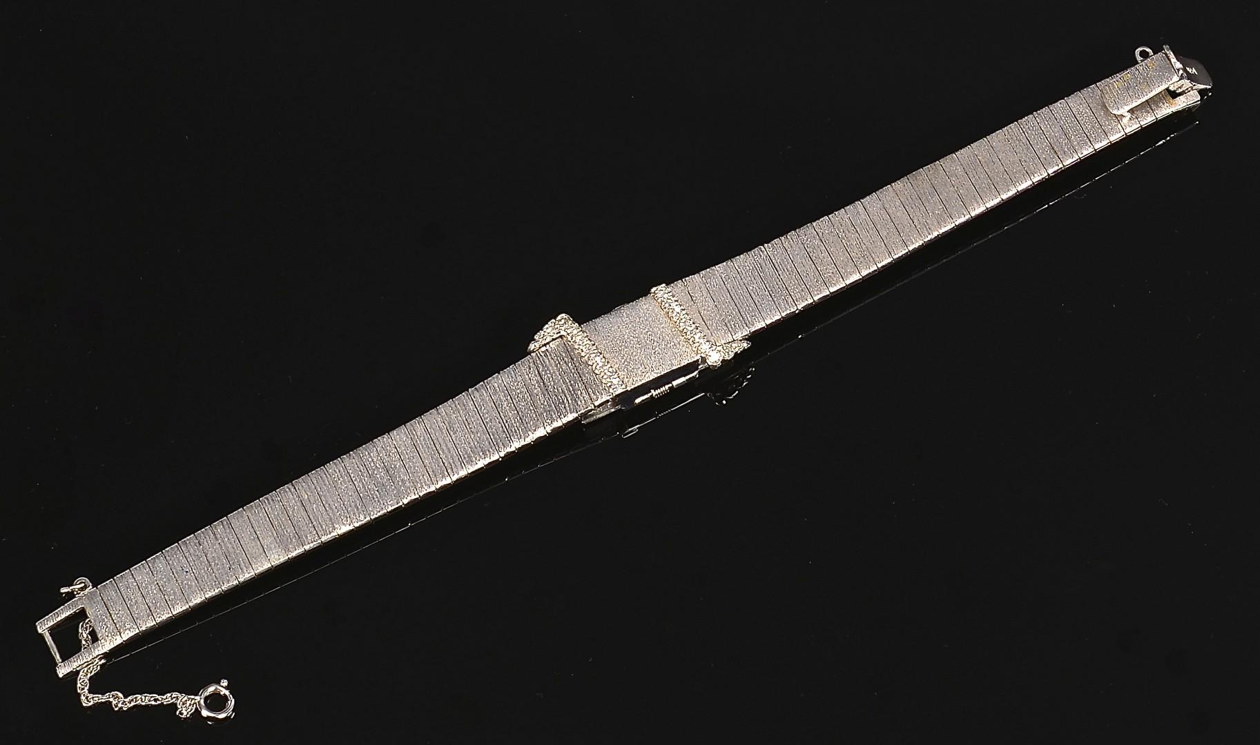 Lot 354: 14K Baume & Mercier Watch w/ Diamond Cover