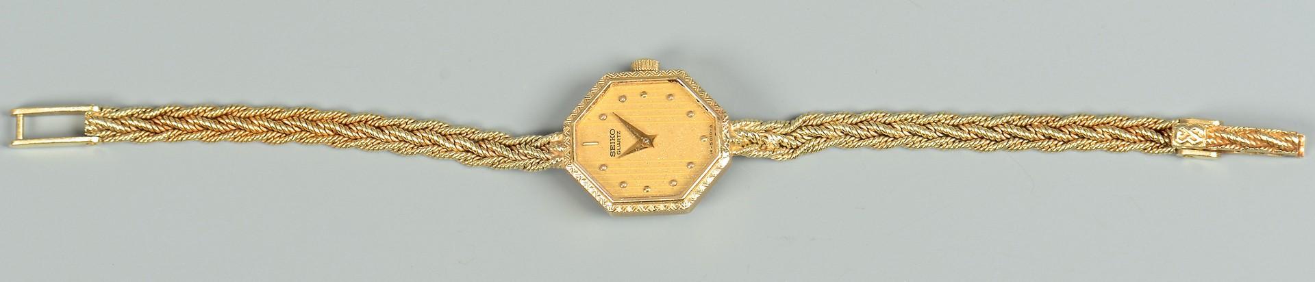 Lot 358: 14k Lady's Seiko watch