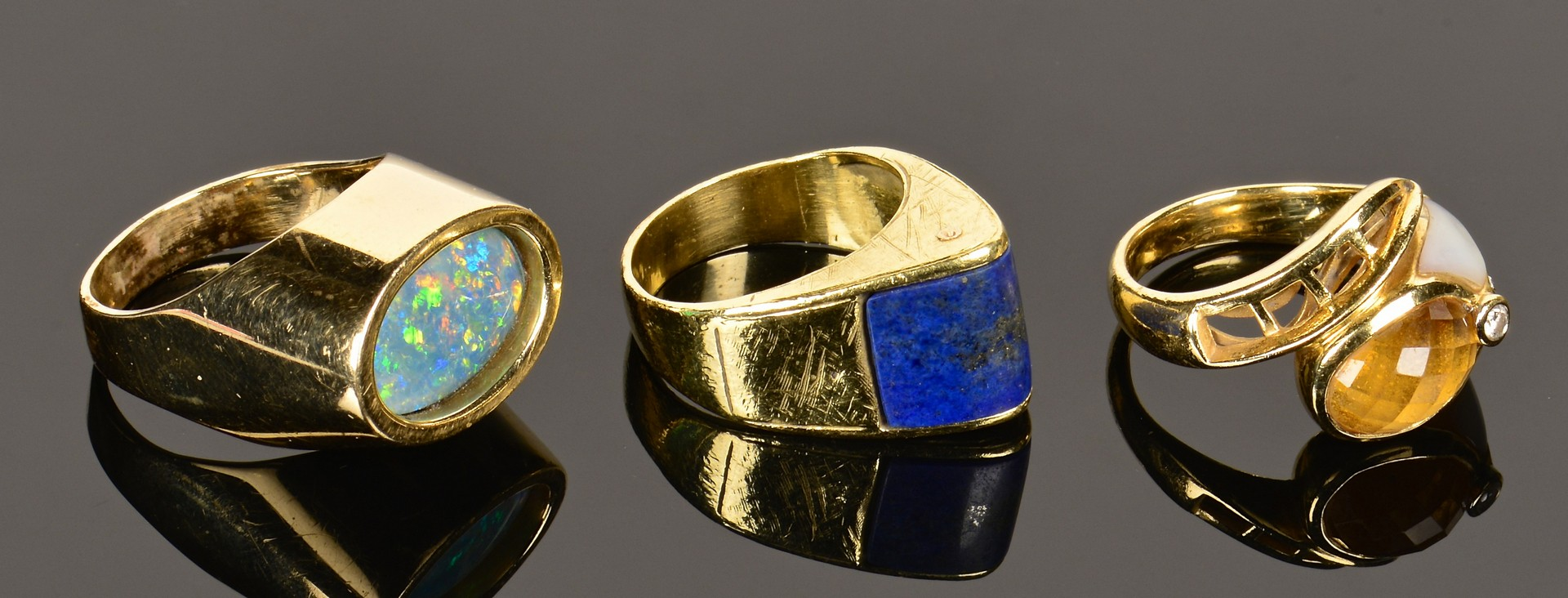 Lot 363: 14K and 18K Fashion Rings