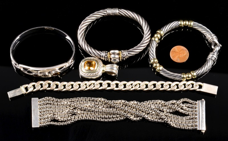 Lot 367: Designer Sterling Jewelry incl Yurman