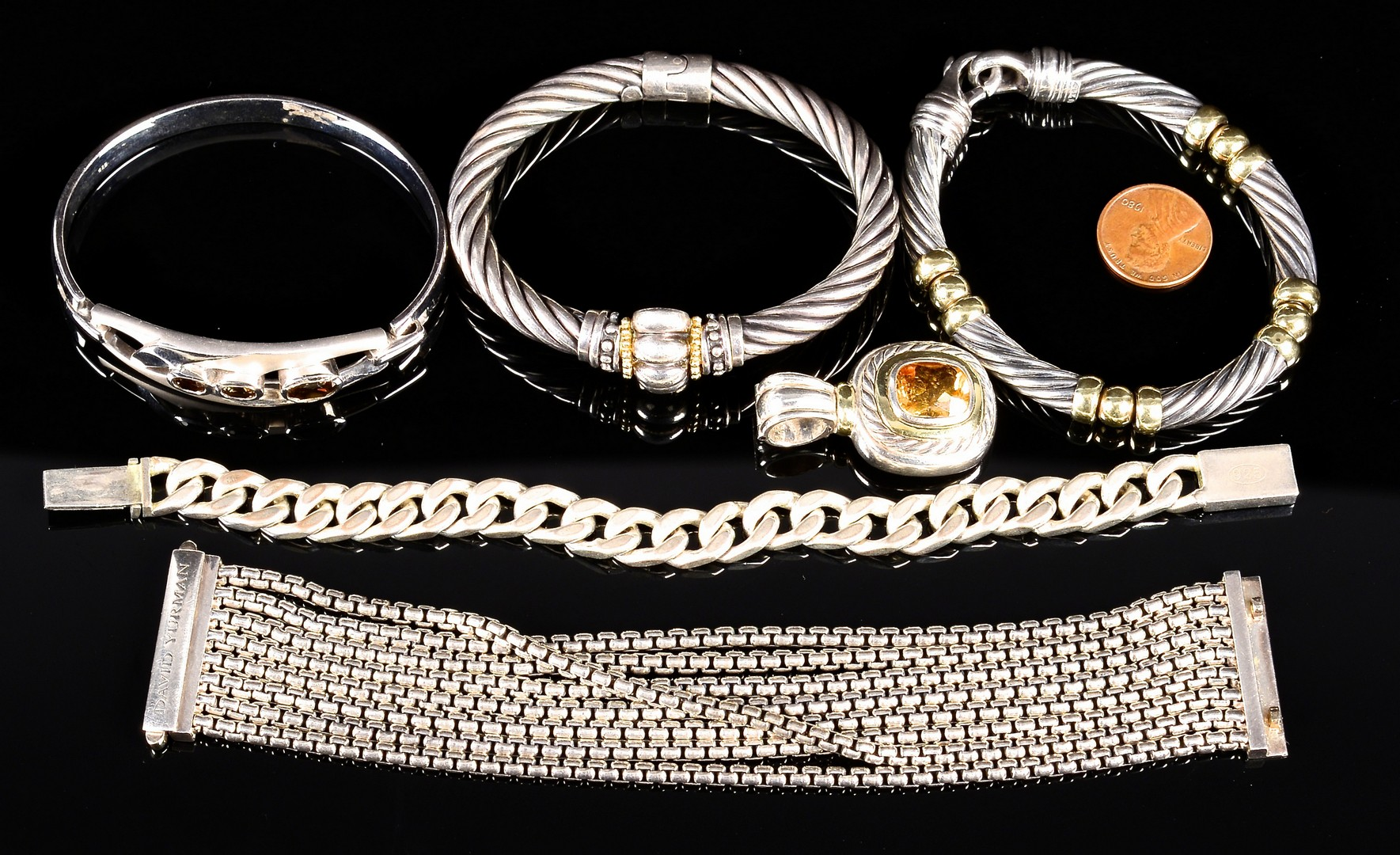 Lot 367 Designer Sterling Jewelry Incl Yurman