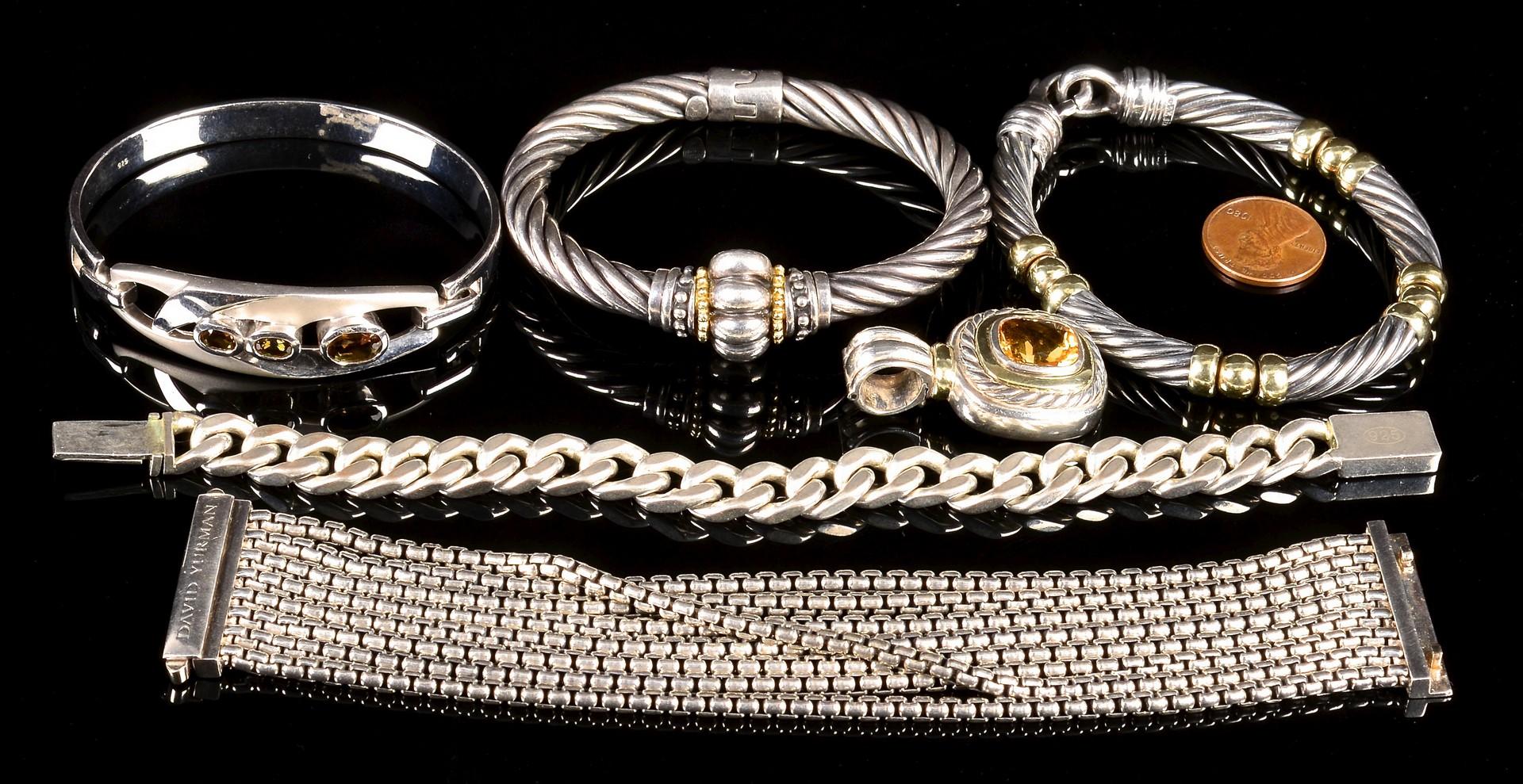 Lot 367: Designer Sterling Jewelry incl Yurman