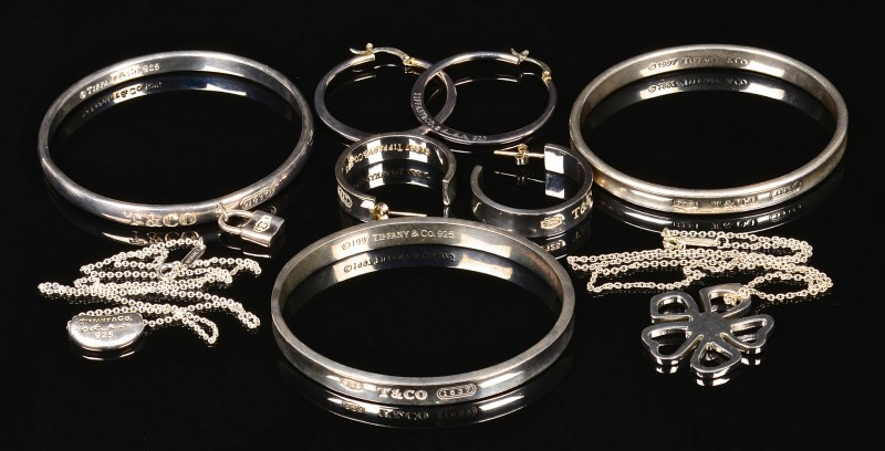 Lot 368: Tiffany & Co. Sterling Jewelry