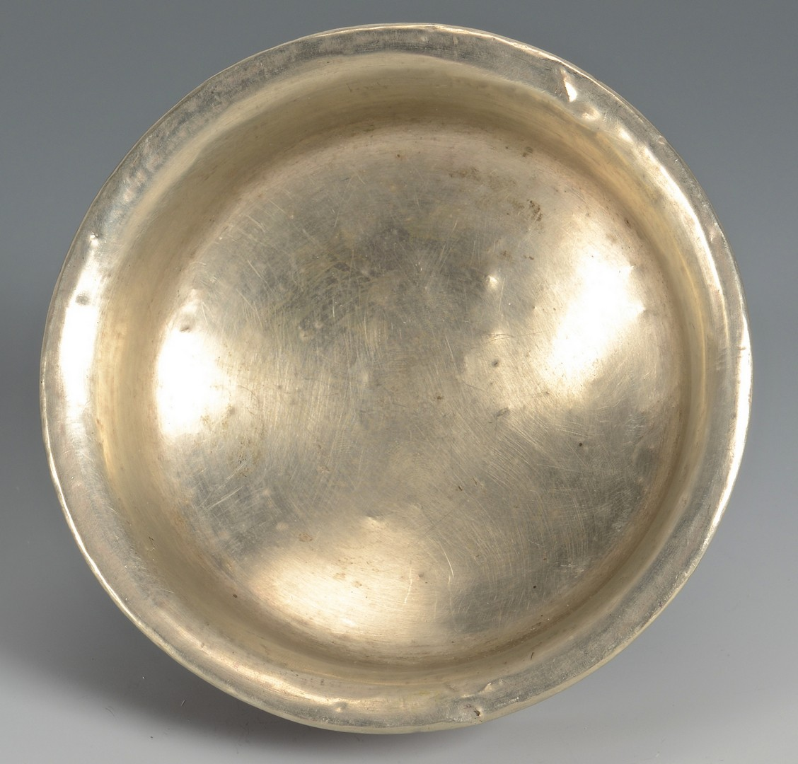Lot 376: Tibetan Burl Wood & Silver Tea Bowl