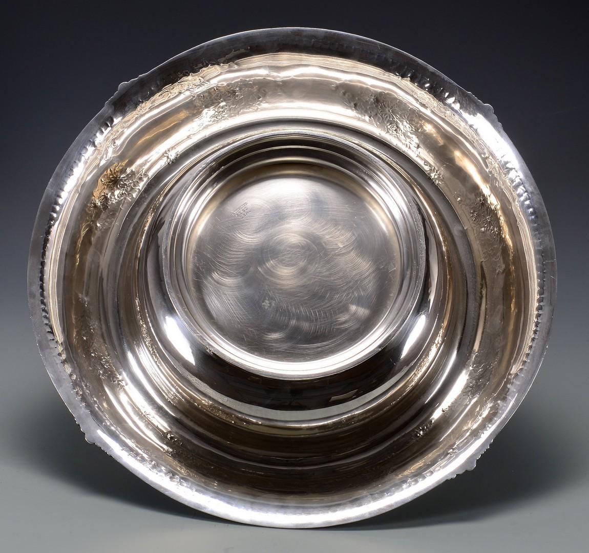 "Lot 37: Large Sterling Center Bowl, 15-1/2"" diameter"
