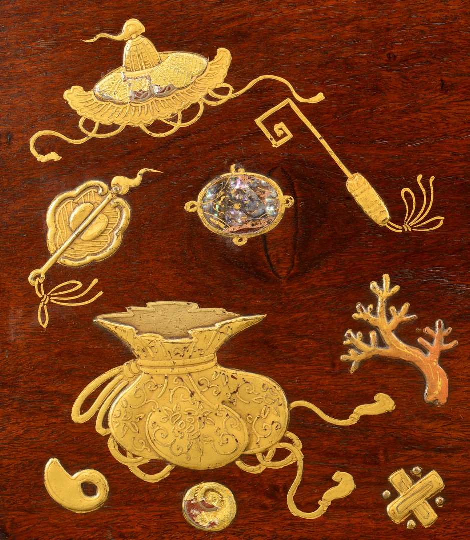 Lot 380: Japanese Lacquered Inlaid Table Tray
