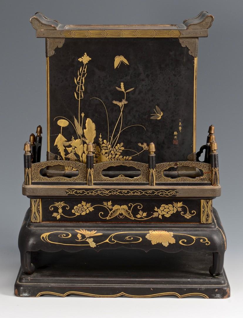 Lot 383: Japanese Takamaki-e Miniature Cabinet