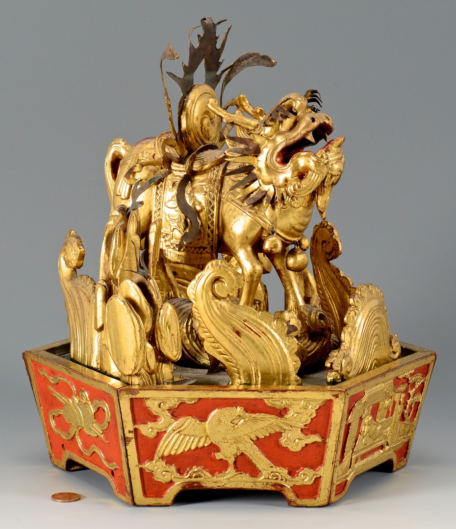Lot 388: Chinese Centerpiece, Figural Fu Lion