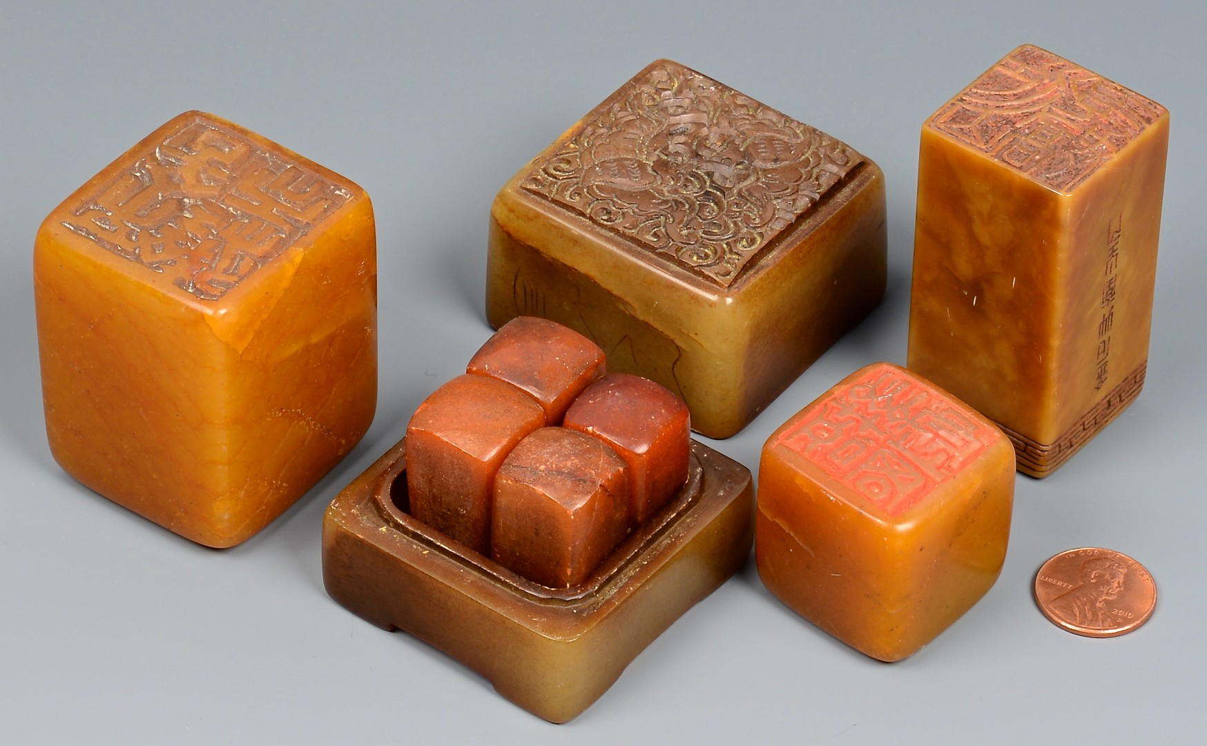 Lot 392: Chinese Stone Seals, poss. Tianhuang