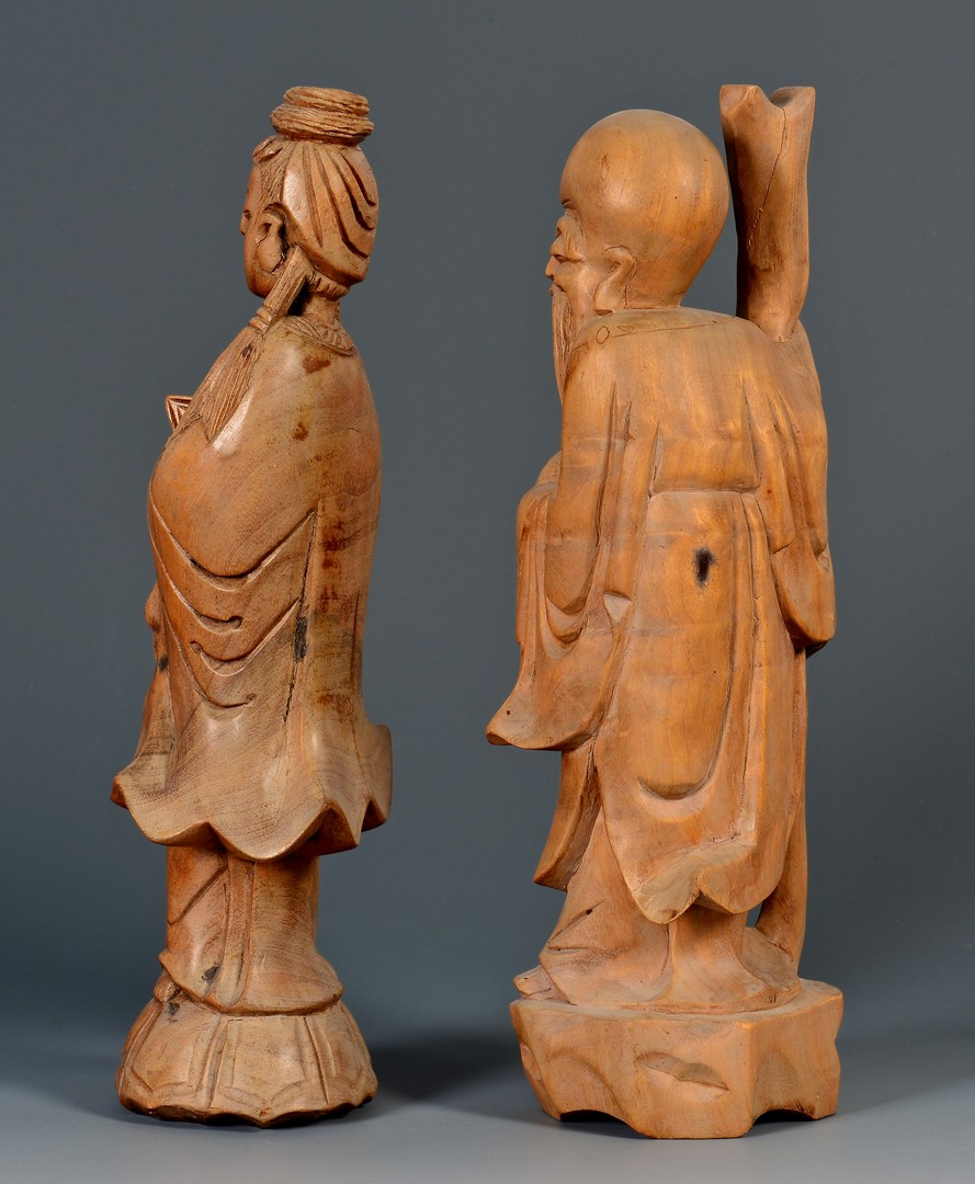 Lot 398: Chinese Porcelain and Carved Figures