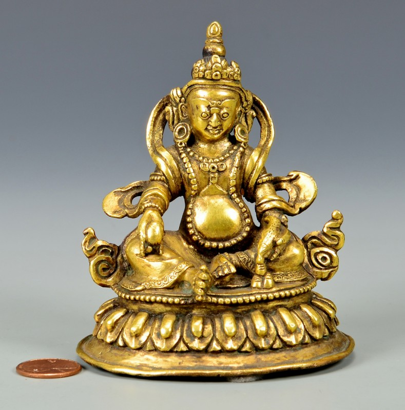 Lot 3: Gilt Bronze Sculpture, Jambala
